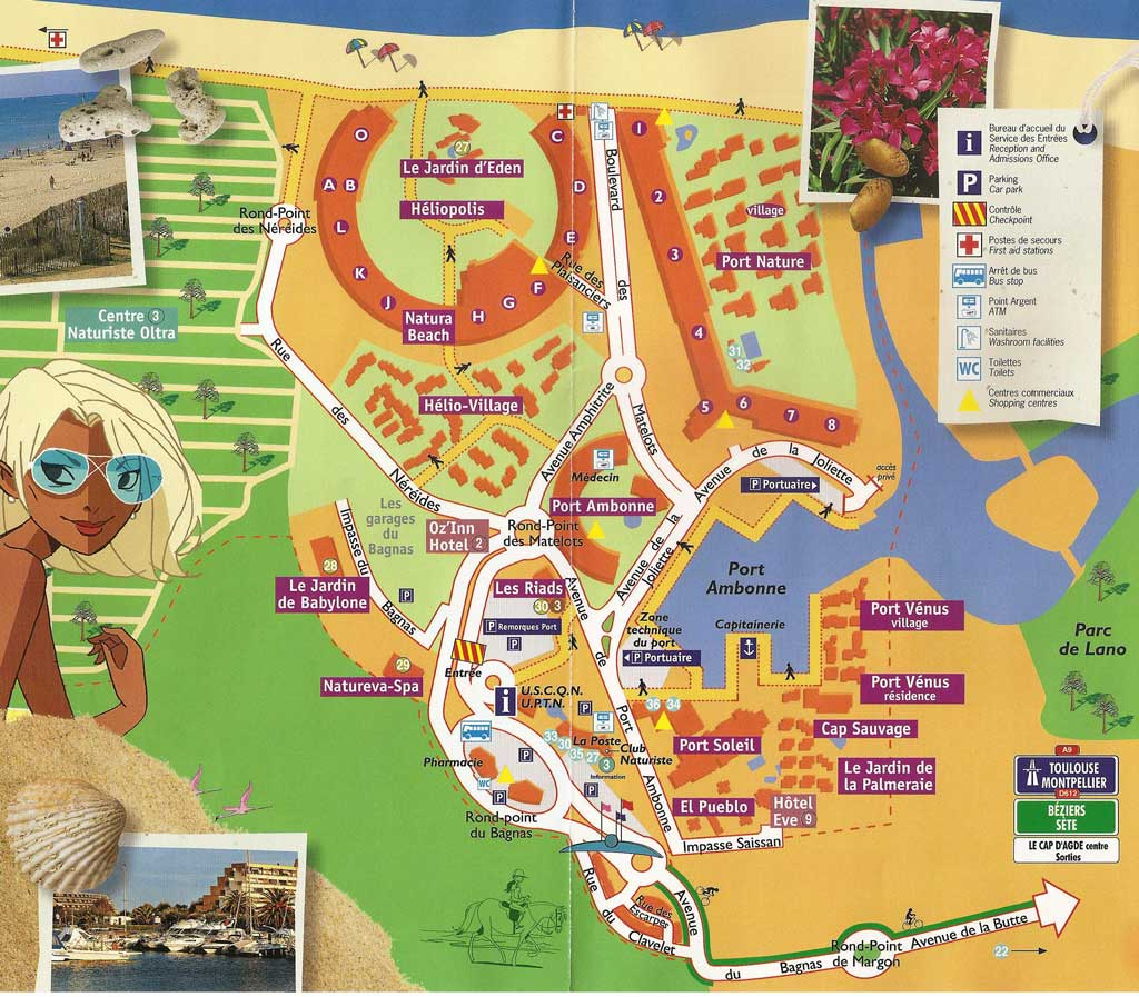 Plan Cap d'Agde