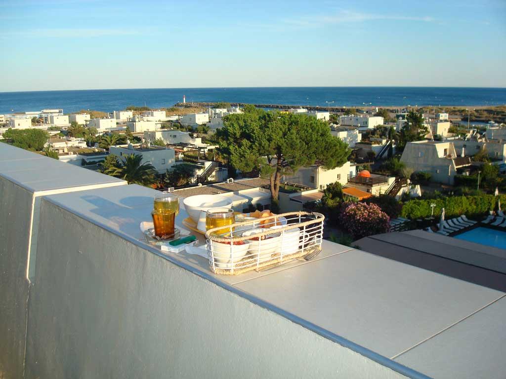 Vue de La terrasse du studio Les Matelots